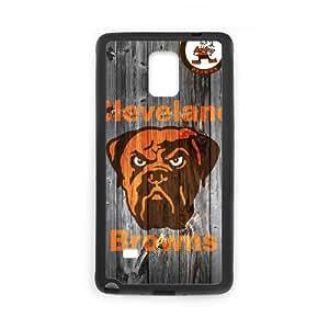 Cleveland Browns Team Logo Samsung Galaxy Note 4 Cell Phone Case Black DIY gift zhm004_8714312