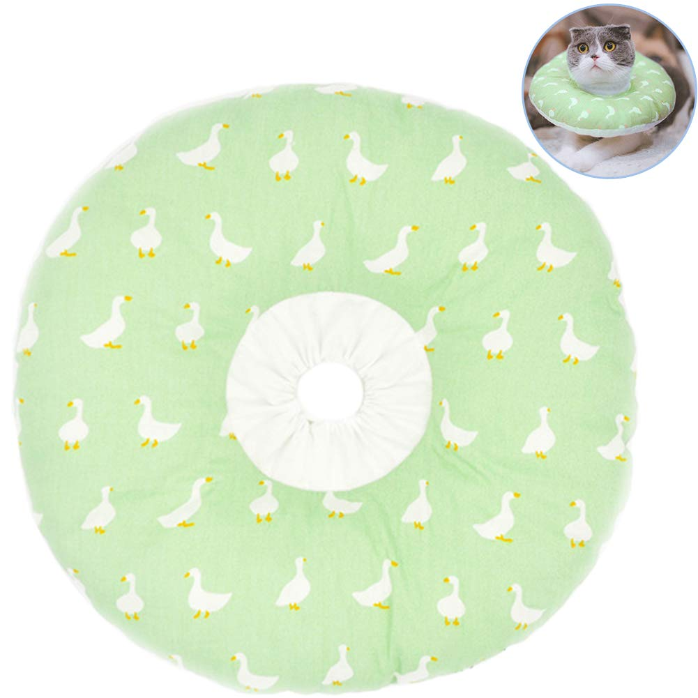 Creation Core Recovery Pet Cone Collar for Cats and Small Dogs - Comfortabe Donut Pattern Elizabethan Cat Collar