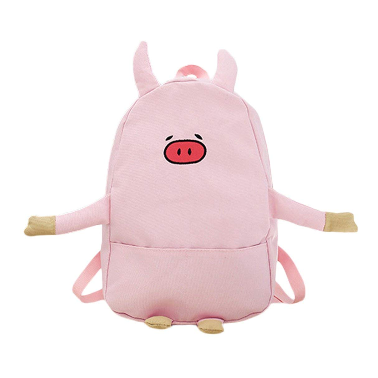 Wafalano Schö ne Nette Schwein Design Frauen Rucksack Junge Mä dchen Casual Leinwand Schultasche Cartoon Stickerei Rucksack Reisetasche
