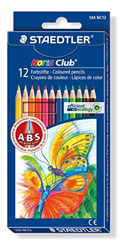 Staedtler - Noris Club 144 - Etui Carton 12 Crayons de Couleur Assortis