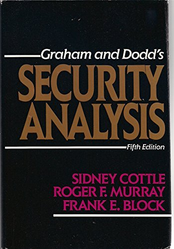 Graham and Dodd's Security Analysis: Fifth Edition