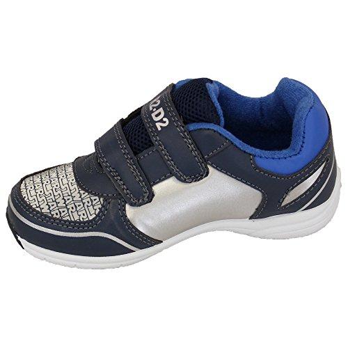 Jungen Turnschuhe Verächtlich Mir Diener Star Wars Klettverschluss Schuhe Kinder Bello Pumps Neu - Marineblau/Blau/Silber - STASARV, UK 9/EU 27 - Toddlers