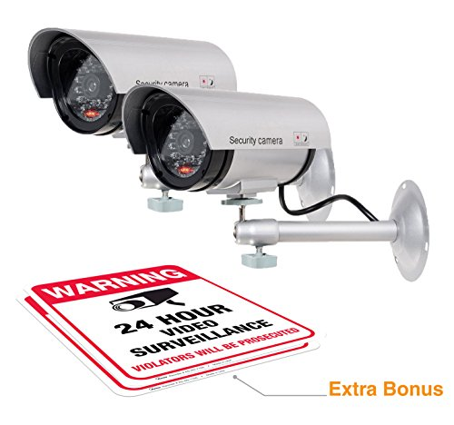 ARMO Dummy Security Camera with Realistic Look Recording LED,