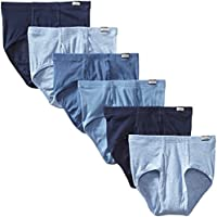 Hanes Men's Tagless FreshIQ No-Ride-Up Briefs with ComfortSoft Waistband, 6-Pack