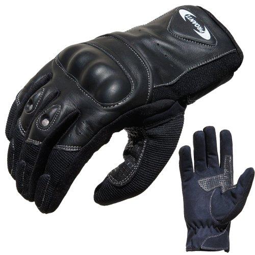 PROANTI Motorradhandschuhe Sommer Motorrad Handschuhe (Gr. XS – XXL, schwarz, kurz)
