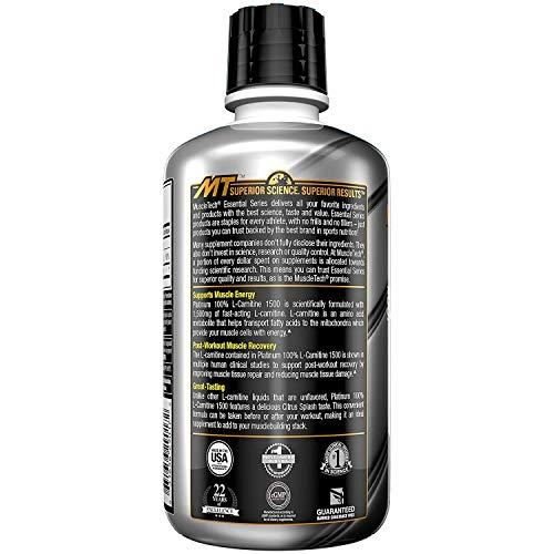 Muscletech Essential Series Platinum 100% L-Carnitine 1500 Citrus Splash - 550 gr: Amazon.es: Salud y cuidado personal