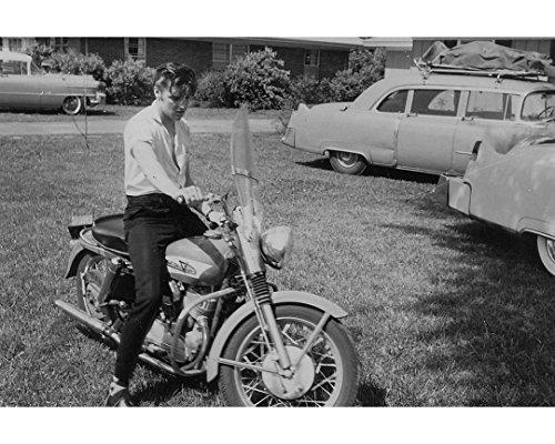 Globe Photos ArtPrints Elvis Presley On A Motorcycle - 10