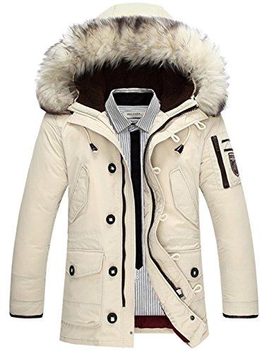 F1518 Étanche Australia Jacket Moxishop Coat Laine Hommes En xxl beige Veste Fourrure hood Fourrure Down Xs Imperméable Collier veste Parka À L'eau q5R5O8