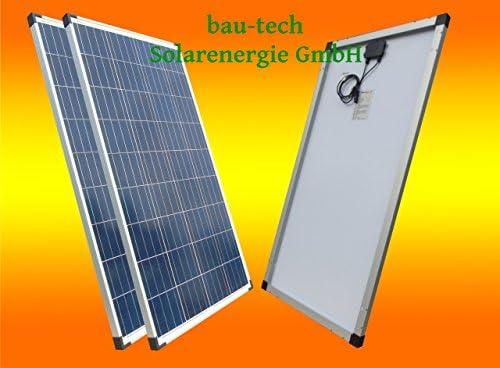 bau-tech Solarenergie 2 Stück 130Watt Solarmodule Polykristallin/Solarpanel/Solar Zelle GmbH