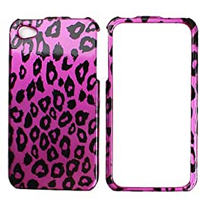 QJM Leopard Print Protective Case for iPhone 4 and 4S (Purple)