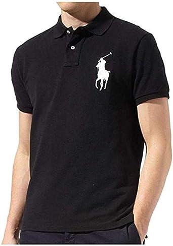 Ralph Lauren Mens Big Pony Custom Slim Fit Mesh Shirt