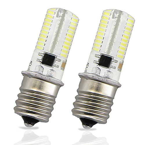 LudoPam E17 LED Bulb Lights 4 Watt Daylight White 6000K AC 110-120V Intermediate Base 80X3014SMD for Microwave Oven Light Appliance Lighting Pack of 2