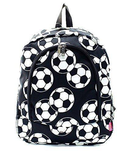 Football Backpack (Children's School Backpack (Soccer Black))