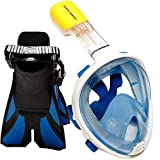 Ocean View Snorkel Mask Set (blue, Small / Medium)