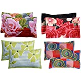 Supreme Home Collective Beautiful Microfiber Printed Pillow Cover Set of 4- Multis