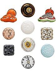 Keramische deurknoppen voor kast, kast, dressoir, lade en meubels Boho Floral Pull-knoppen