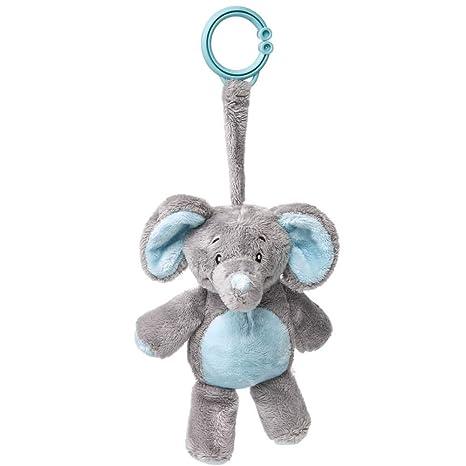My Teddy My Newborn Sonajero Clip elefante color azul claro/gris ...