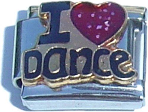 I Love Dance Italian Charm
