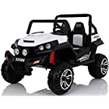 Dorsa Buggy Polaris Ranger Ride on Car, White, S2588
