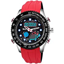 Wrath Ripe Red Sports Analog & Digital Luxury Watch for Men