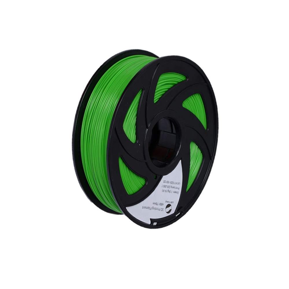 LEE FUNG ABS 3D Printer Filament 1.75mm,1kg (2.2lbs) Spool, Dimensional Accuracy +/- 0.05 mm Green