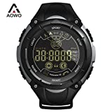 AOWO Smart Watch Men Digital Bluetooth Smart Watch IP68 Waterproof 5ATM Call SMS Notification Sport Smartwatch with LED Backlight for Android IOS iPhone