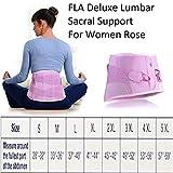 FLA Orthopedics Lumbar Sacral Support for Women, Rose, XXX-Large