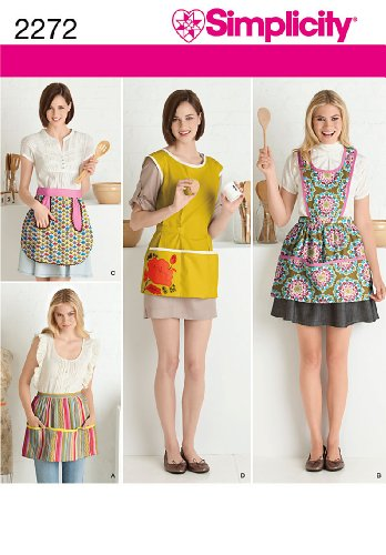 - Simplicity Sewing Pattern 2272 Misses' Aprons, A (S-M-L)