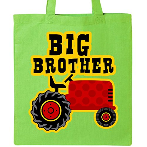 Inktastic Red Tractor Big Brother Tote Bag Lime Green (Tractor Gift Bag)