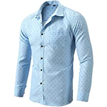 FLY HAWK Mens Slim Fit Dress Shirts Casual Button Down Long Sleeve Work Shirt for Men