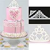 UNKE Baking Molds Silicone Crown Fondant Mold Queen Candy Chocolate Molds For Sugar Craft Gum Pate Cake Decorating