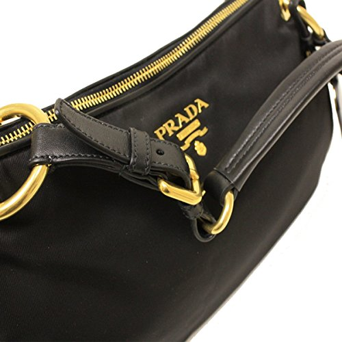 85db2944ed Prada BR4894 Nero Black Tessuto Soft Calf Leather and Nylon Shoulder ...