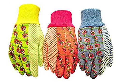 G & F 1852-3 Women Soft Jersey Garden Gloves, Women Work Gloves, 50-Pairs, Green/Pink/Blue per Pack (Medium (50 Pairs))
