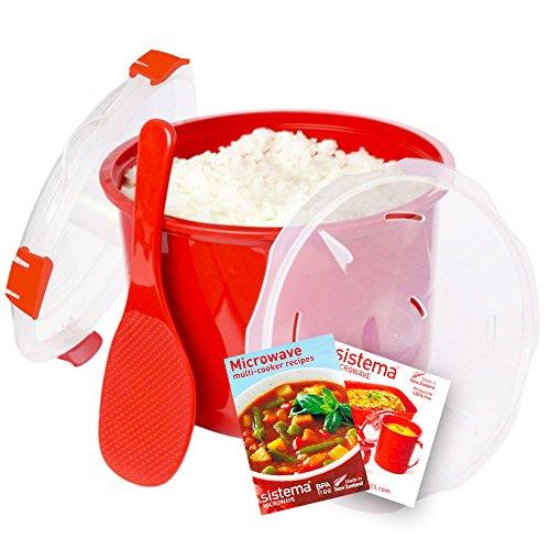 sistema microwave cookware rice steamer set with lids. Black Bedroom Furniture Sets. Home Design Ideas