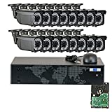 GW Security 16 Channel 5MP NVR HD IP Security Camera System with 16 x 1520P 4MP 2.8-12mm Varifocal Zoom Security Camera