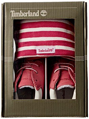 Timberland Crib Bootie mit Hut, Baby Mädchen Flache Hausschuhe Rosa