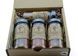 Smokehouse Favorites ~ BBQ Rub and Spices Gift Set ~ High Plains Spice Company Gift Set ~ Gourmet Meat Spice Blends & Rubs For Beef, Chicken & All Recipes ~ Spice Blends Handcrafted In Colorado