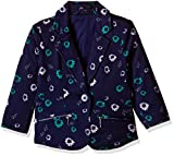 United Colors of Benetton Girls' Coat (16A2JACK0018I901L_Blue and Multicolor_L)