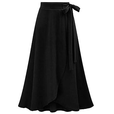 NPRADLA Large Falda Partido Falda de Cintura Alta para Mujer Falda ...