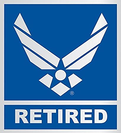 ccfa487c20d Image Unavailable. Image not available for. Color  United States Air Force  Retired Car Decal US Military ...