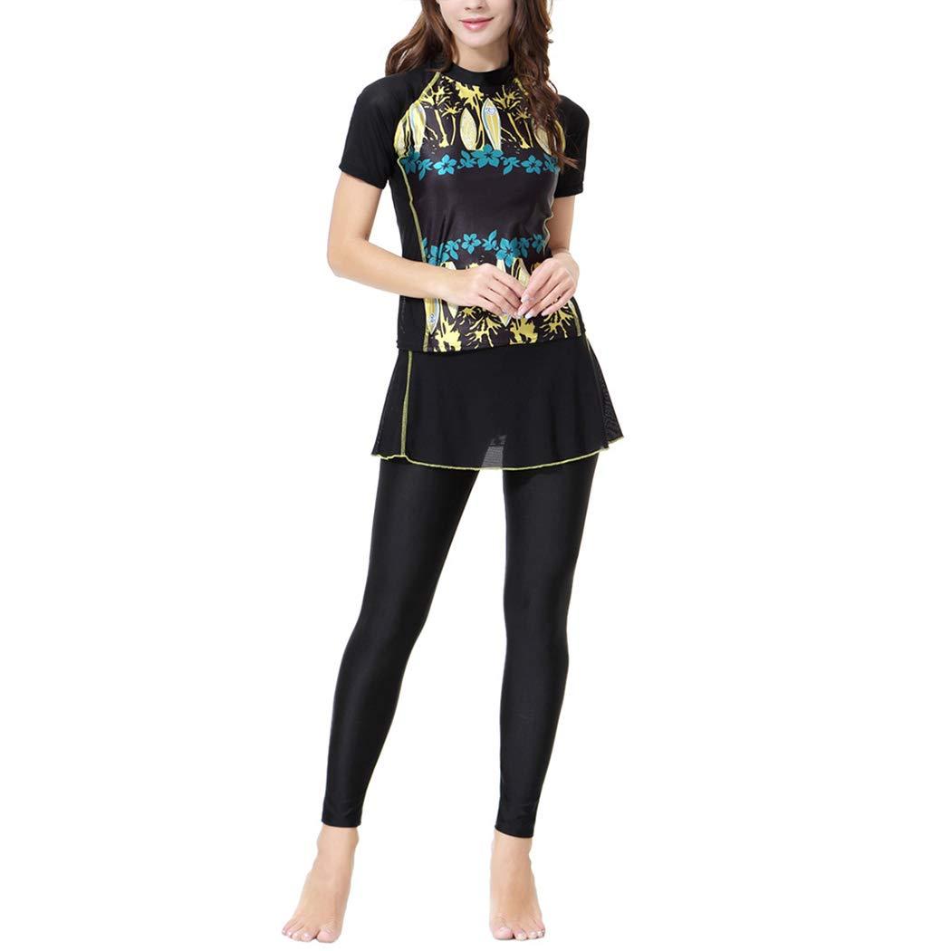 Amazon.com: xzbailisha - Bañador de manga corta para mujer ...