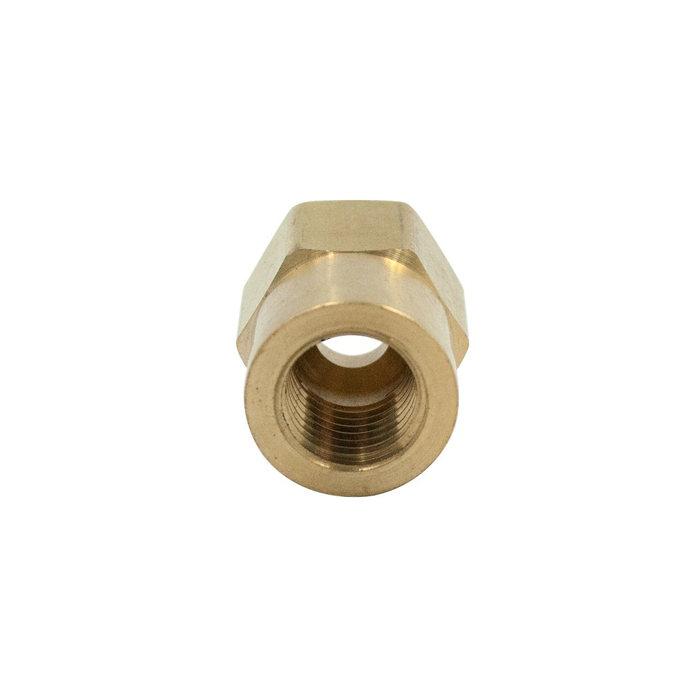Pack of 1 Adapter Vis Brass Inverted Flare Tube Fitting Convert Tube to NPT Female Pipe 5//16 OD x 1//8 NPT Female