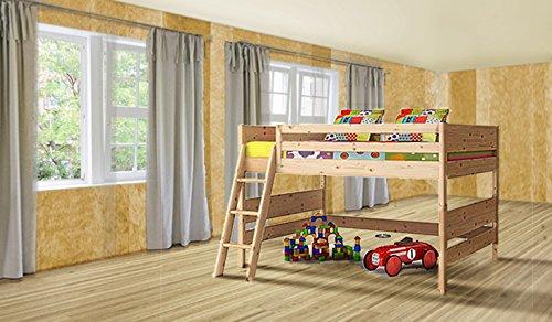 Kinder Hochbett 90/200 - Kinderbett (Zirbe)