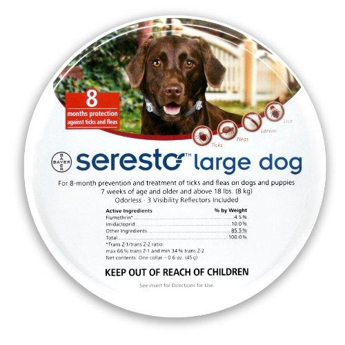 Bayer Seresto Flea and Tick Collar, Large Dog, My Pet Supplies