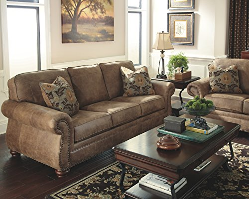 home & kitchen, furniture, living room furniture,  sofas & couches  discount, Ashley Furniture Signature Design » Larkinhurst Sofa » Contemporary Style Couch » Earth in US5