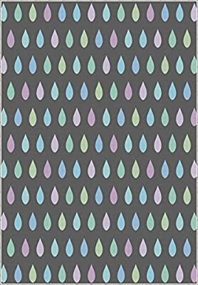 Lake House Decor Area Rug by Ambesonne, Trippy Toned Droplets Pattern Like Vintage Polka Dots on Grey Background Image, Flat Woven Accent Rug for Living Room Bedroom Dining Room, Multi