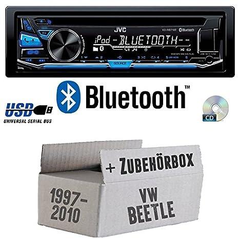 Android 4x50Watt USB MP3 Autoradio Radio JVC KD-X151 VW Beetle 1 9C Einbauzubeh/ör Einbauset