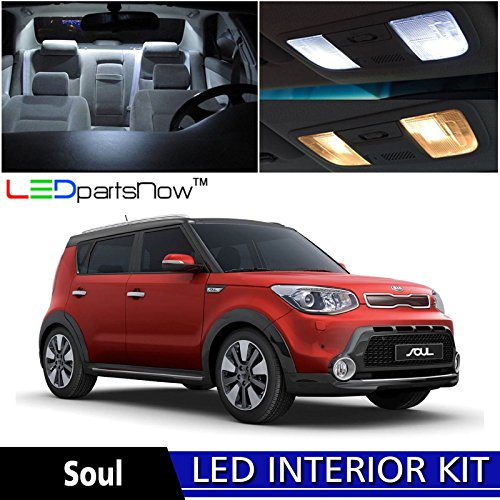 Ledpartsnow 2014 2018 Kia Soul Led Interior Lights Accessories Replacement Package Kit 10