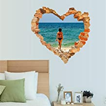 Gocheaper 1Set Decor Wall Stickers,Family Home Room Art Wall Decal 3D DIY Happy Valentine Removable Mural Gift