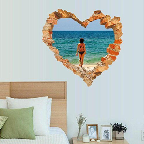 Gocheaper 1Set Decor Wall Stickers,Family Home Room Art Wall Decal 3D DIY Happy Valentine Removable Mural Gift by Gocheaper (Image #5)